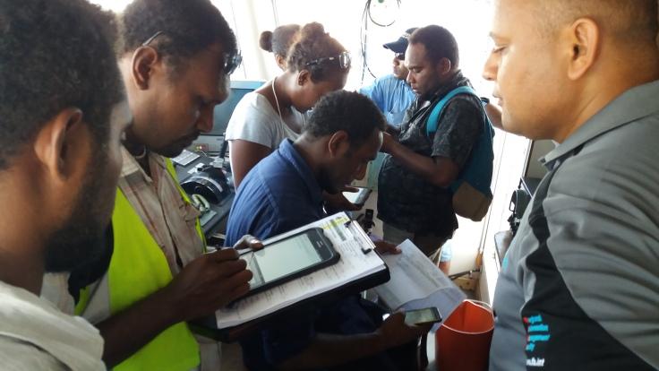 Mobile app training in Noro, Solomon Is